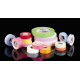Colored Label Tape: 0.5 in. Wide - Rose - 60yd.