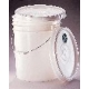 240125 - White Pail - Pails and Lids, High-Density Polyethylene, Qorpak - Case of 100