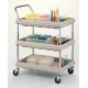 BC2030-3DBL'BC2030-3DBL - Three-Shelf Unit - Deep Ledge Utility Carts, Metro - Each