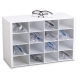 50059'50059 - Equally-Sized 16-Compartment Holder for Safety Glasses and/or Goggles - 16-Compartment Safety Glass Holder, PVC, TrippNT - Each