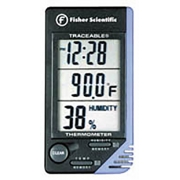 Traceable Thermometer Clock Humidity Monitor  - 62344-734
