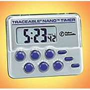 Traceable Nano Timer with Two-Channel Memory; 0.36 in. high digits