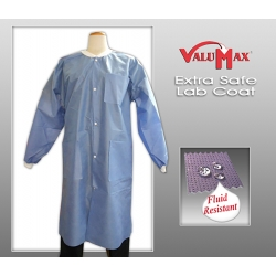 Extra-Safe Lab Coats — Medical Blue  - Large